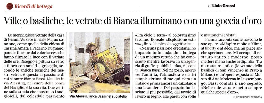Bianca Bassi - Corriere della sera - Milano