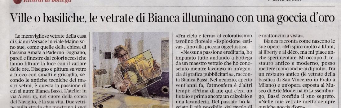 """articolo """"Corriere della Sera"""" lunedi  8 giugno 2015"""