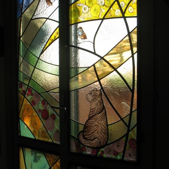 vetrata divisorio ambienti,particolare - Bianca Bassi