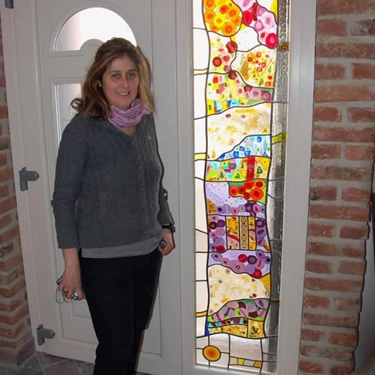 Bianca Bassi Vetrata Verticale