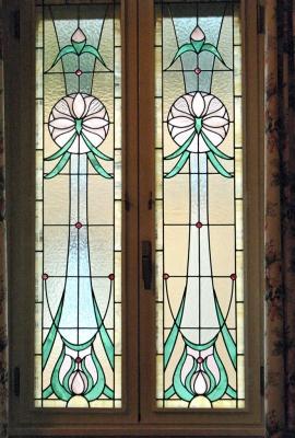 finestra stile Liberty