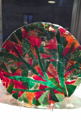 Plate Christmas Red and Green